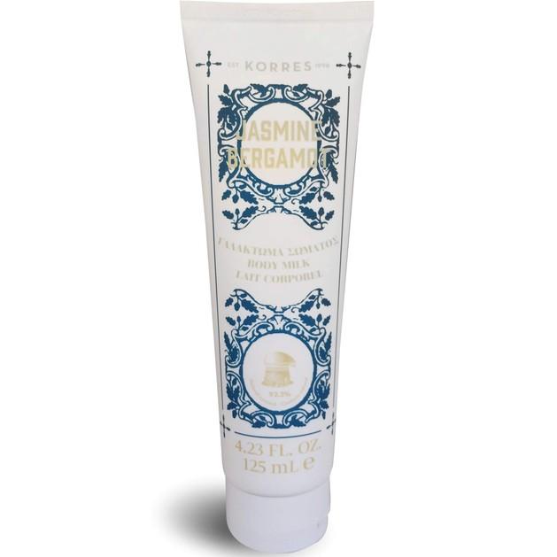 Korres Body Milk Jasmine Bergamot Ενυδατικό Γαλάκτωμα Σώματος με Άρωμα Ανθισμένου Γιασεμιού & Νότες Δροσερού Περγαμόντου 125ml