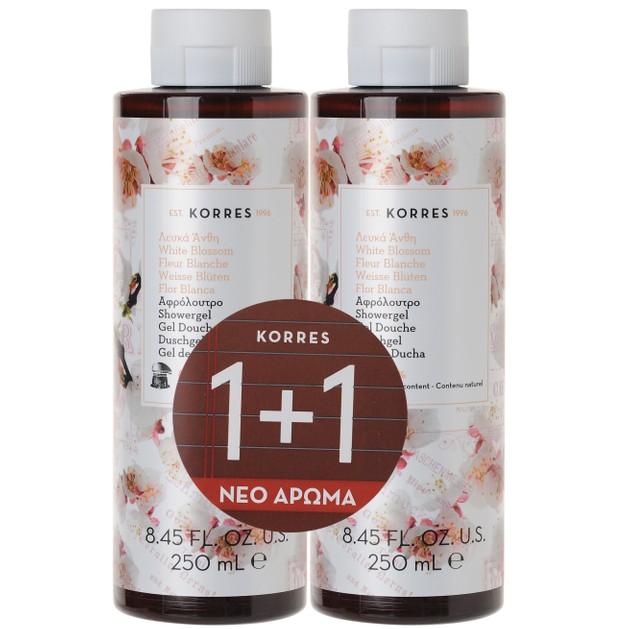 Korres Πακέτο Προσφοράς Showergel White Blossom 1+1 Δώρο 2x250ml