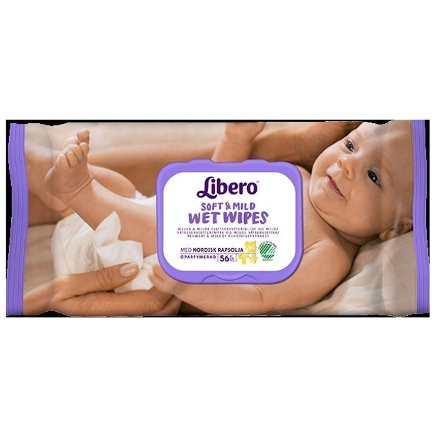 Libero Soft & Mild Wet Wipes Υγρά Μωρομάντηλα 56 Τεμάχια