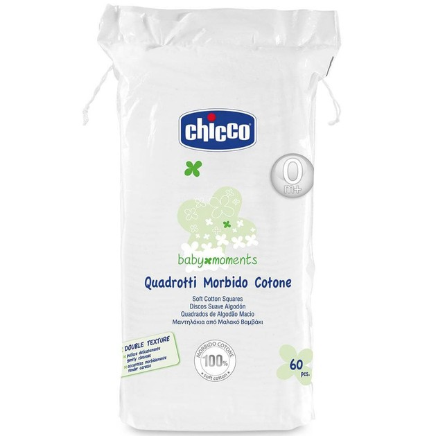 Chicco Baby Moments Μαντηλάκια από Μαλακό Βαμβάκι 0m+ 60τμχ