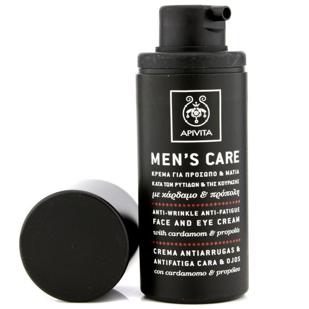Apivita Mens Care Anti-Wrinkle & Anti-Fatique Face & Eye Cream With Cardamom & Propolis 50ml