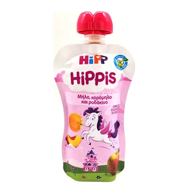 Hipp Hippis Βιολογικό Παρασκεύασμα Φρούτων με Μήλο,Κορόμηλο & Ροδάκινο 100gr