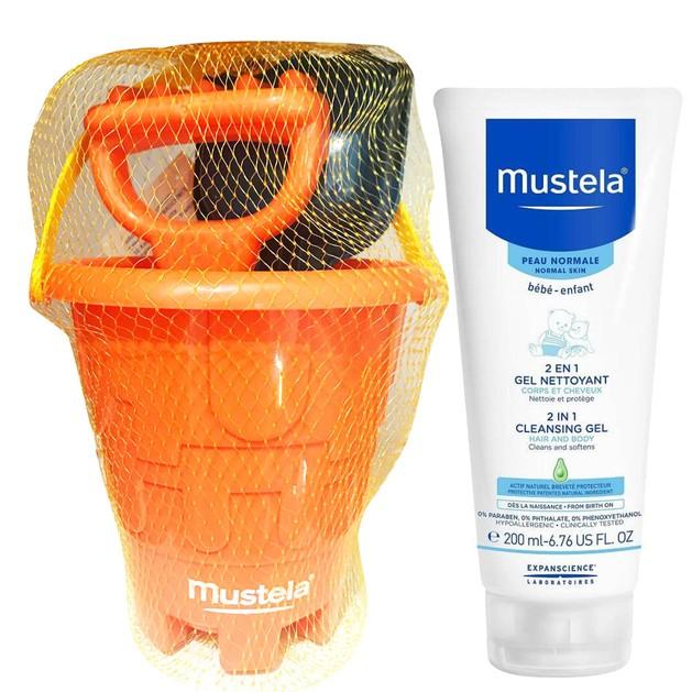 Δώρο Mustela 2 in 1 Cleansing Gel Βρεφικό-Παιδικό Gel Καθαρισμού Σώμα-Μαλλιά 200ml & Παιχνίδι Παραλίας