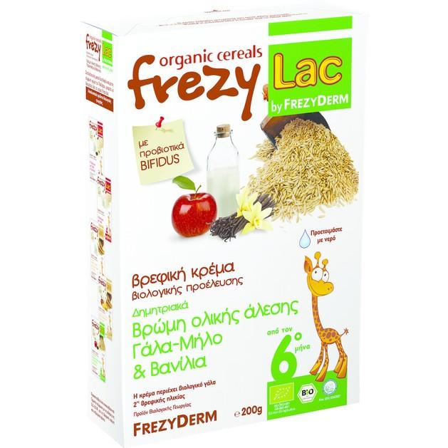 Frezyderm Frezylac Bio Cereal Βρώμη με Γάλα, Μήλο & Βανίλια 200gr