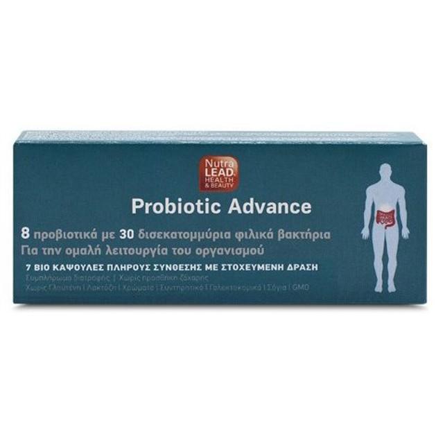 NutraLead Probiotic Advance Συμπλήρωμα Διατροφής Προβιοτικών για την Ομαλή Λειτουργία του Οργανισμού 7caps