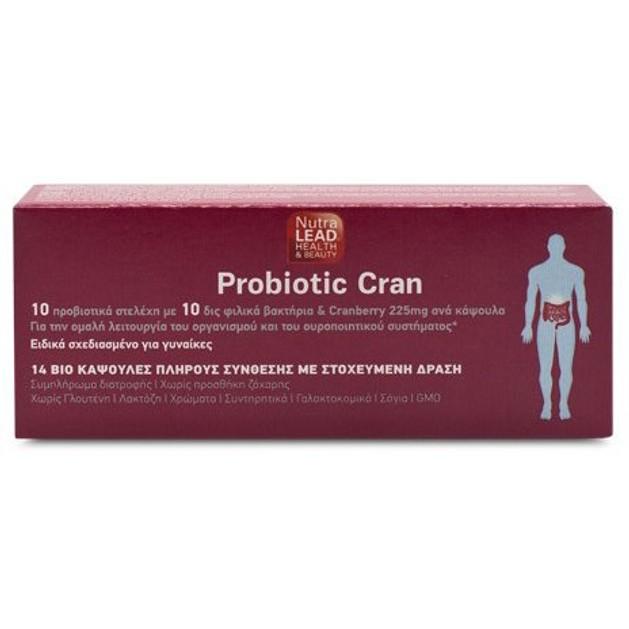 NutraLead Probiotic Cran Συμπλήρωμα Διατροφής Προβιοτικών για την Ομαλή Λειτουργία του Ουροποιητικού Συστήματος 14caps