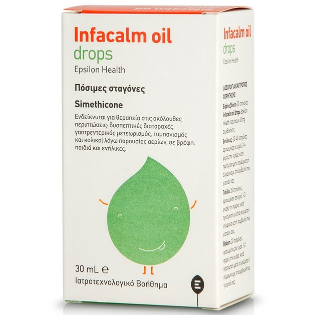 Epsilon Health Infacalm Oil Drops Ιατροτεχνολογικό Βοήθημα σε Πόσιμες Σταγόνες που Αντιμετωπίζει Κοιλιακές Διαταραχές 30ml