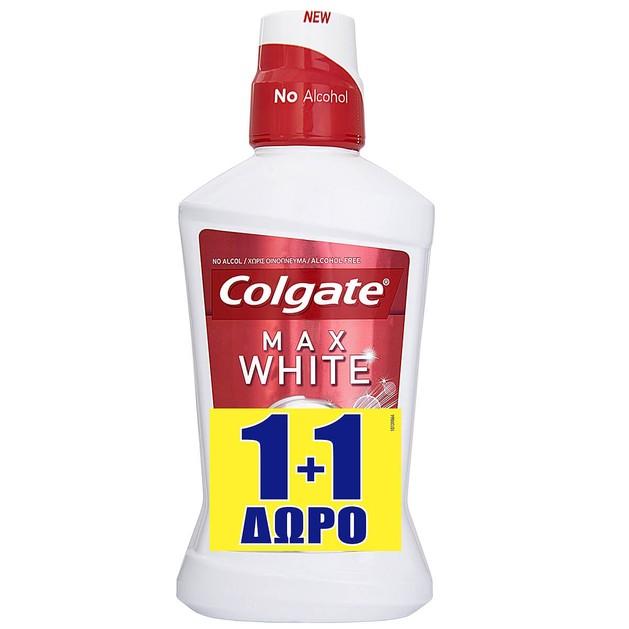 Colgate Πακέτο Προσφοράς Max White Instantly Στοματικό Διάλυμα για Λευκότερα Δόντια στη Στιγμή 2x250ml 1+1 Δώρο