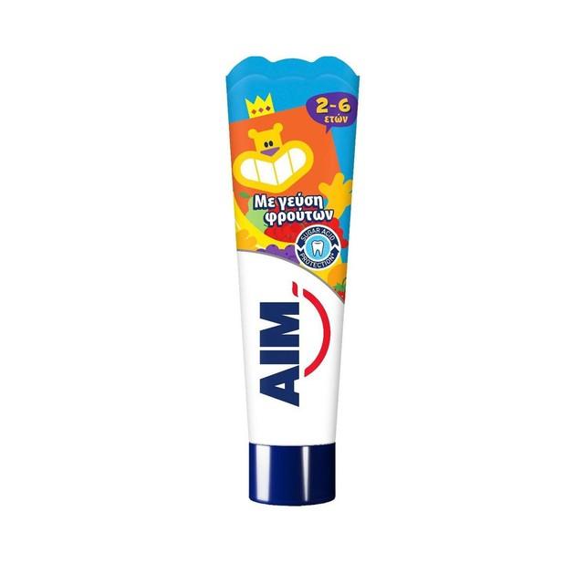 Δώρο Aim Παιδική Οδοντόκρεμα με Γεύση Φρούτων 2-6 Ετών 16ml
