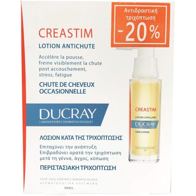 Ducray Creastim Lotion Antichute 2x30ml Promo -20%