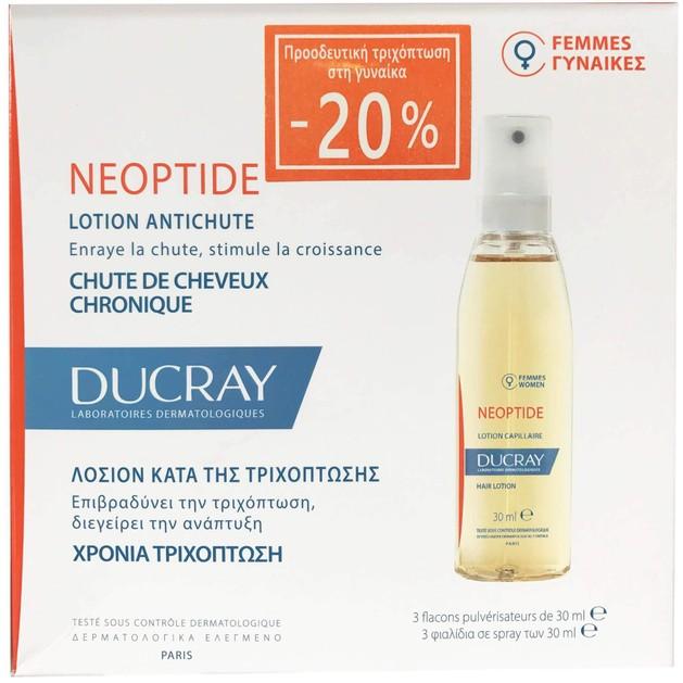 Ducray Neoptide Lotion Antichute 3 Φιαλίδια x30ml Promo -20%
