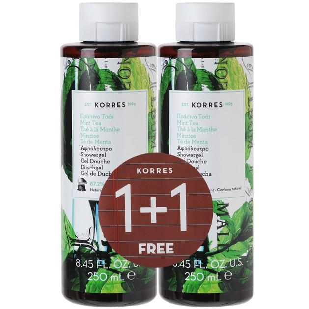 Korres Mint Tea Showergel 250ml 1+1 Δώρο, 2x250ml