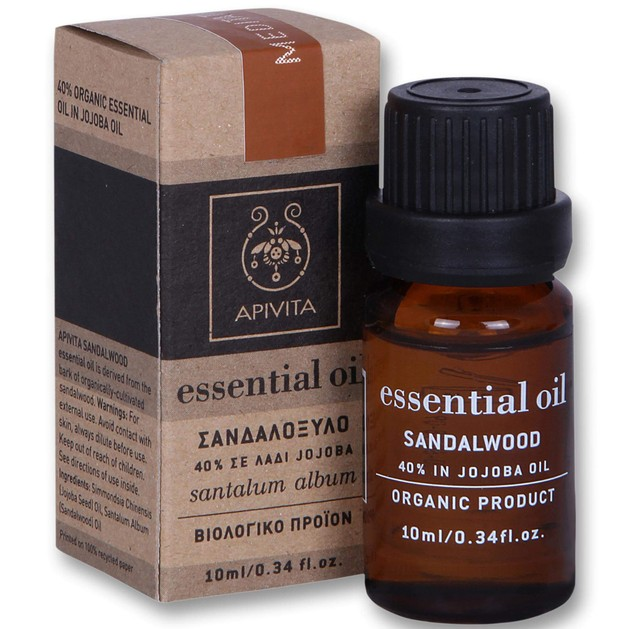 Apivita Essential Oil Αιθέριο Έλαιο Σανδαλόξυλο 10ml