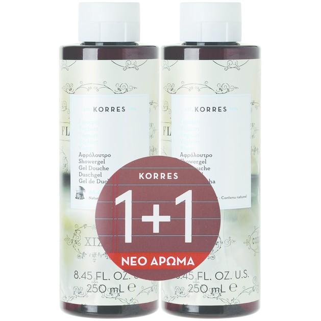 Korres Πακέτο Προσφοράς Showergel Yoghurt 1+1 Δώρο 2x250ml