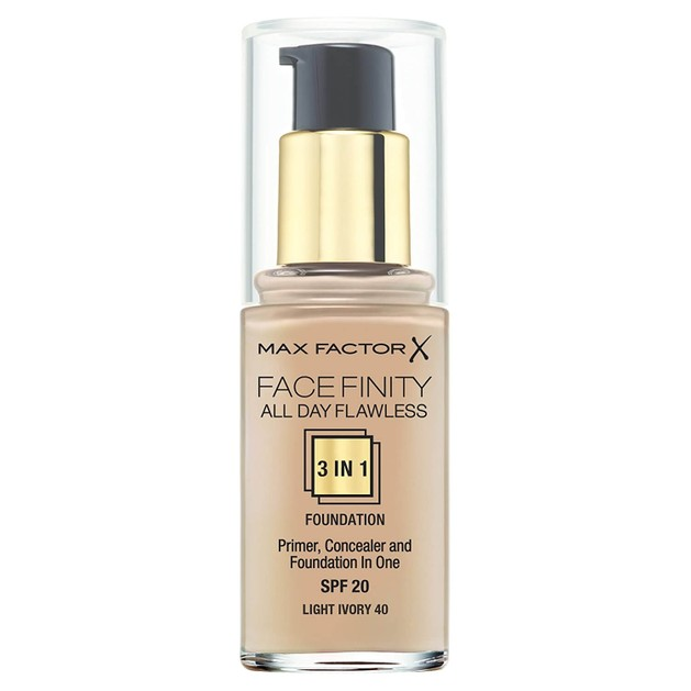 Max Factor Facefinity 40 Light Ivory 3 in 1 Foundation 30ml  (make up)