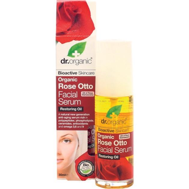 Dr Organic Organic Rose Otto Facial Serum  Έλαιο για το Πρόσωπο με Βιολογικό Έλαιο Τριαντάφυλλου 30ml