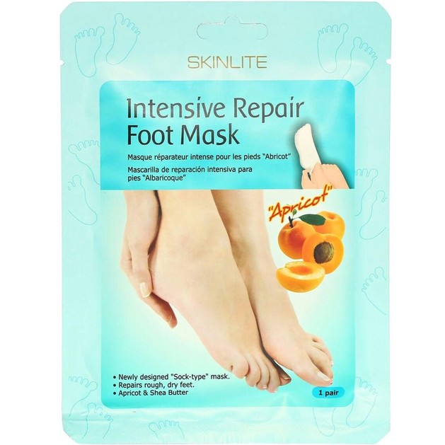 Skinlite Intensive RepairFoot Mask Apricot Μάσκα Εντατικής Επανόρθωσης Ποδιών 1 Ζεύγος