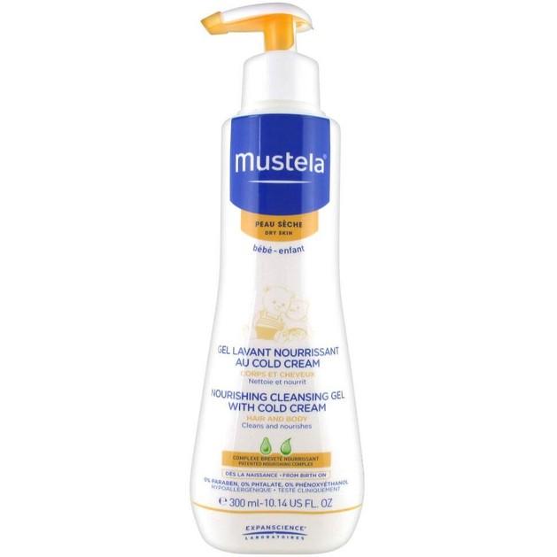 Mustela Nourishing Cleansing Gel With Cold Cream Βρεφικό-Παιδικό Τζελ Καθαρισμού για Σώμα και Μαλλιά 300ml
