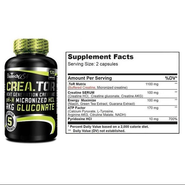 Biotech Crea.tor Κρεατίνη 120 caps