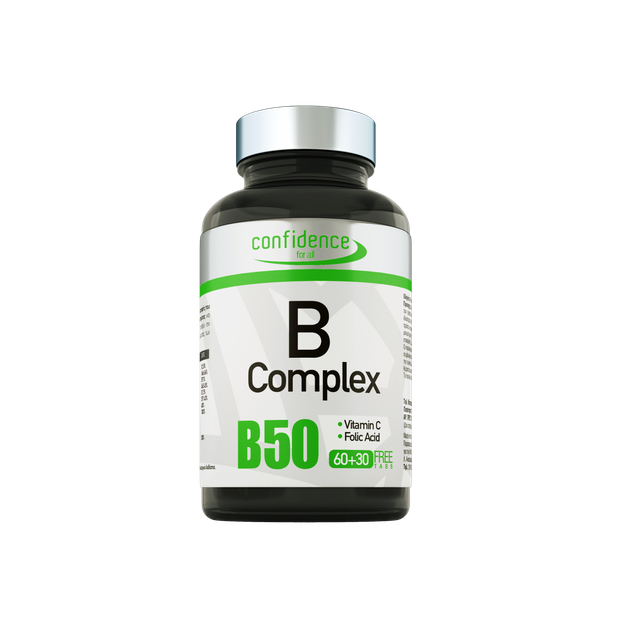 B Complex 90 tabs (60+30 free tabs) - Confidence