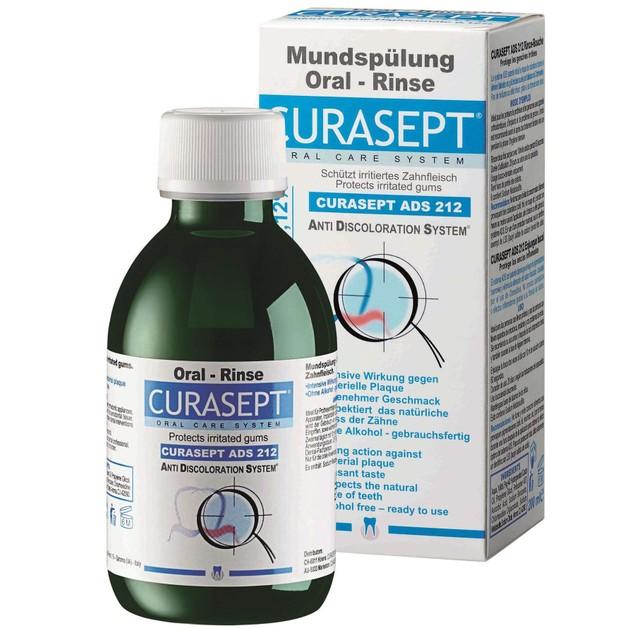 Curasept ADS 212 Στοματικό Διάλυμα για Ανακούφιση Από Ερεθισμούς του Στοματικού Βλεννογόνου 0,12% CHX 200ml