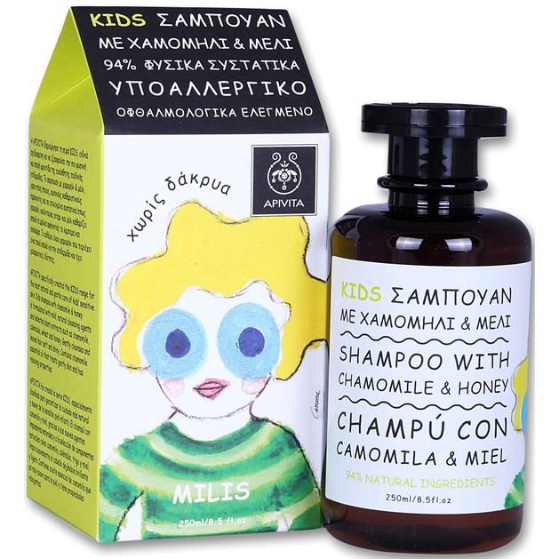 Apivita Kids Shampoo with Chamomile & Honey Παιδικό Σαμπουάν με Χαμομήλι & Μέλι 250ml