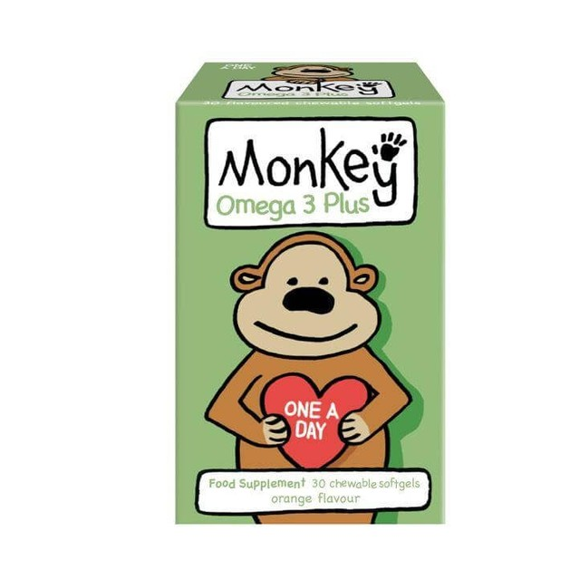 Monkey Wellbeing Omega Plus 30 Ζελεδάκια
