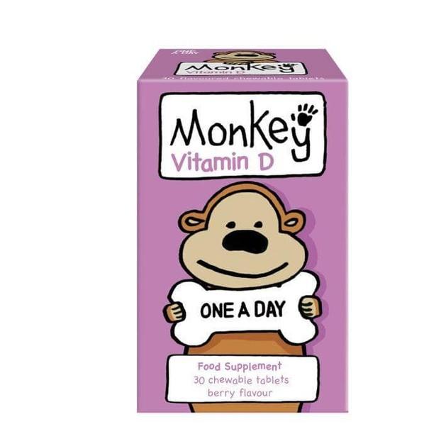 Monkey Wellbeing Vitamin D 30 Μασώμενες Ταμπλέτες