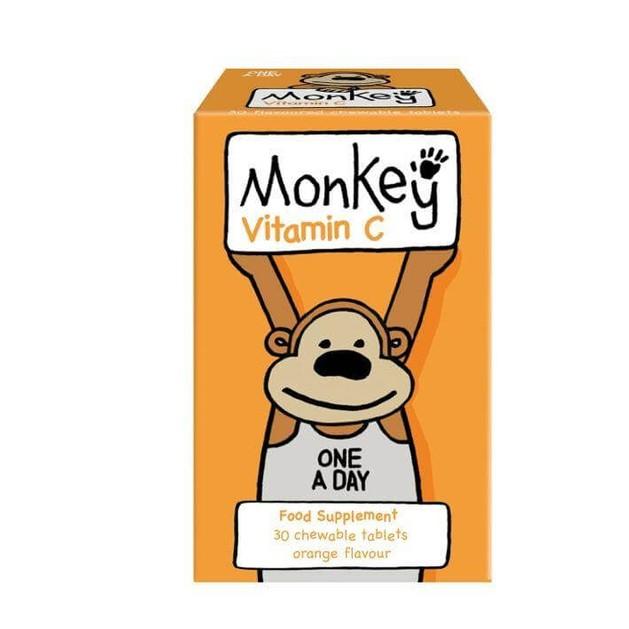 Monkey Wellbeing Vitamin C 30 Μασώμενες Ταμπλέτες