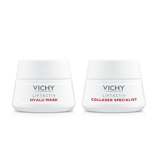 Δώρο Vichy Liftactiv Specialist Hyalu Masque 15ml & Liftactiv Specialist Collagen 15ml (1 Σετ ανά Παραγγελία)