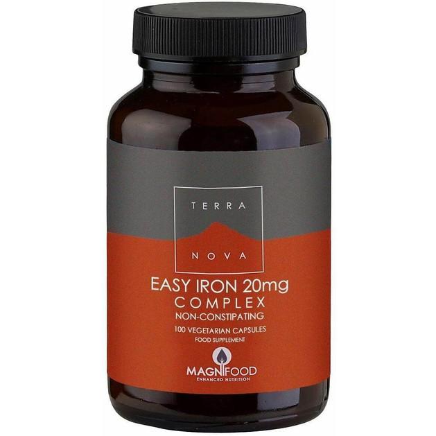 Terranova Easy Iron 20mg Complex που Συμβάλλει στο Σχηματισμό της Αιμοσφαιρίνης 100caps