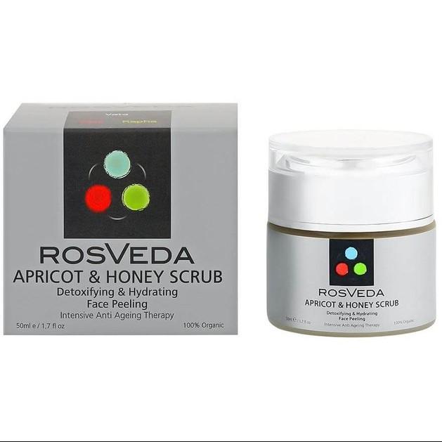 RosVeda Apricot & Honey Scrub 100% Φυτική Σύνθεση, Αντιγηραντική Θεραπεία Αποτοξίνωσης & Ενυδάτωσης της Επιδερμίδας 50ml