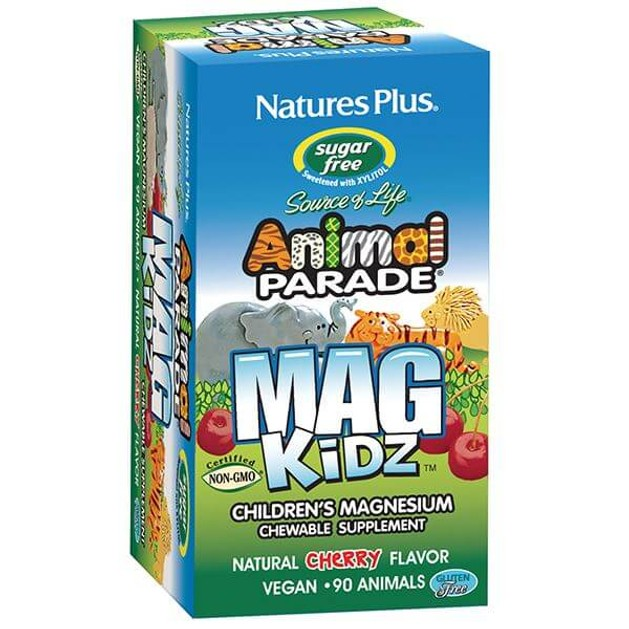 Nature\'s Plus Animal Parade Mag Kidz Μαγνήσιο για Παιδιά με Γεύση Κεράσι 90 Μασώμενα Ζωάκια