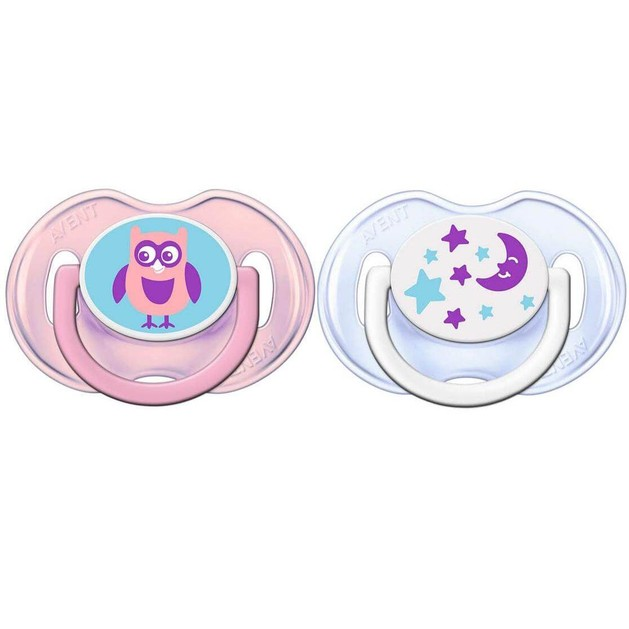 Avent Πιπίλα Σιλικόνης Κλασικές Πιπίλες Σιλικόνης, 0-6 Μηνών, Για Κορίτσι Συσκευασία των 2 Τεμαχίων SCF196/18