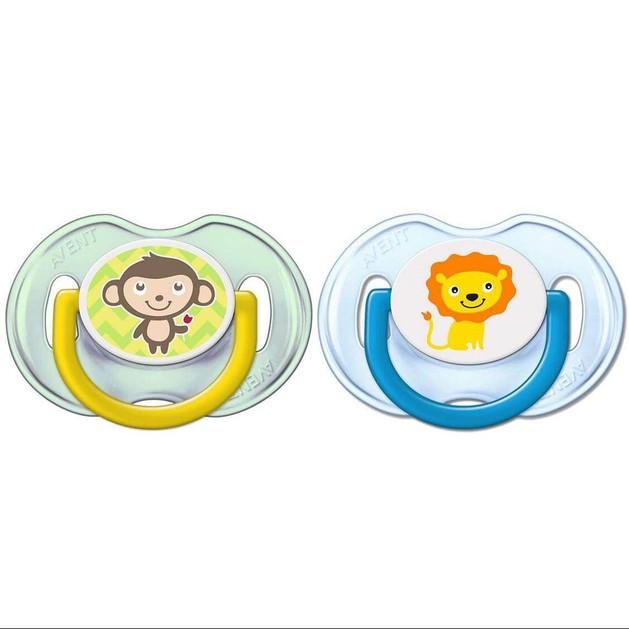 Avent Πιπίλα Σιλικόνης Κλασικές Πιπίλες Σιλικόνης, 0-6 Μηνών, Για Αγόρι Συσκευασία των 2 Τεμαχίων SCF196/18
