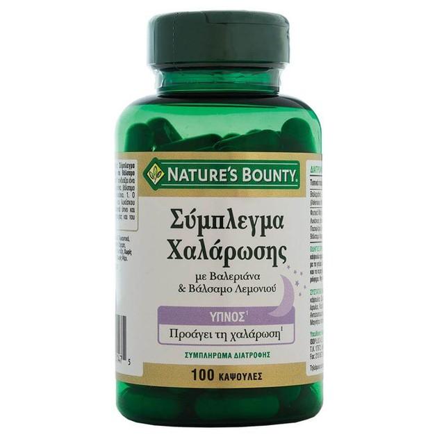 Nature\'s Bounty Σύμπλεγμα Χαλάρωσης Συμπλήρωμα Διατροφής για την Χαλάρωση & τον Φυσιολογικό Ύπνο 100caps