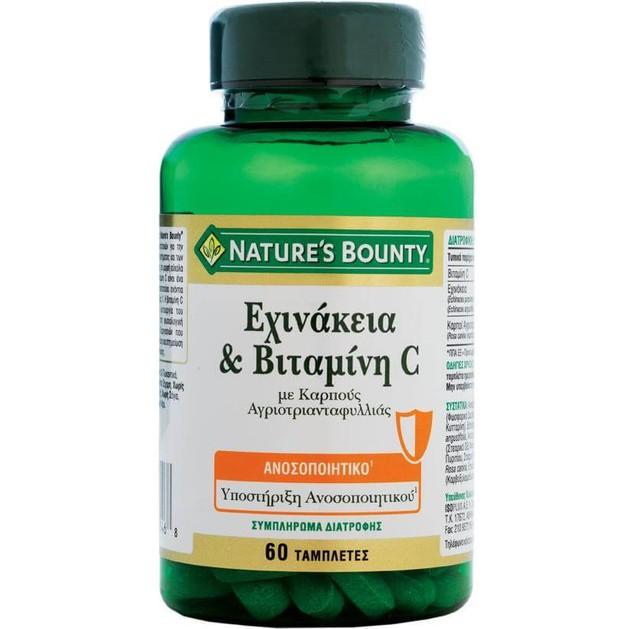 Nature\'s Bounty Εχινάκεια & Βιταμίνη C Συμπλήρωμα Διατροφής για την Υποστήριξη του Ανοσοποιητικού Συστήματος 60tabs