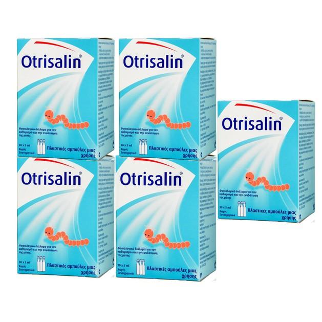 Otrisalin Πακέτο Προσφοράς Αποστειρωμένος Φυσιολογικός Ορός σε Αμπούλες 5x(30x5ml)