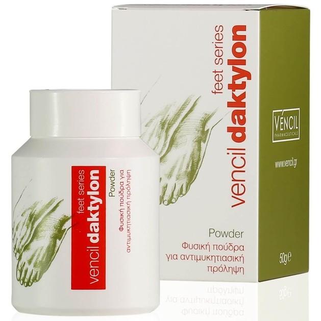Vencil Daktylon Powder Φυσική Πούδρα για Αντιμυκητιασική Πρόληψη με Αντιφλογιστική, Αποσμητική & Απορροφητική Δράση 50g