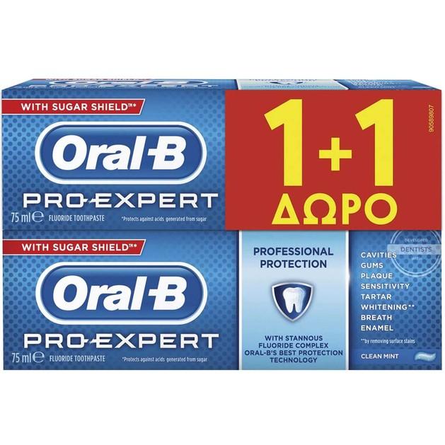 Oral-B Pro-Expert Professional Protection Οδοντόκρεμα 75ml 1+1 Δώρο
