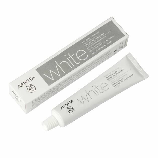 Apivita Natural Dental Care White Toothpaste With Mastic & Propolis 75ml