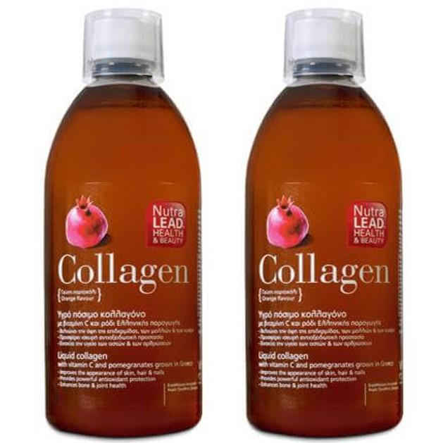 2 x Nutralead Πόσιμο Κολλαγόνο (collagen) Με Ρόδι 500ml