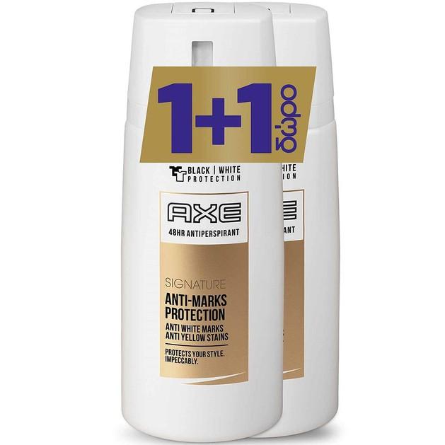 Axe Πακέτο Προσφοράς Signature Anti-Marks Protection Spray Αποσμητικό 150ml 1+1 Δώρο