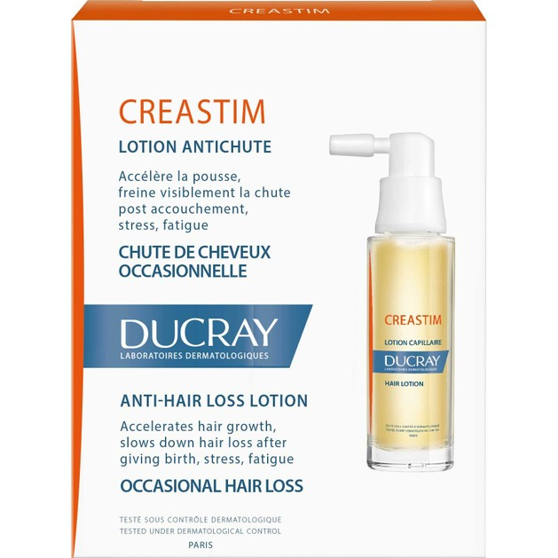 Ducray Creastim Lotion Antichute Λοσιόν Αγωγής Κατά της ΑντιδραστικήςΤριχόπτωσης 2x30ml