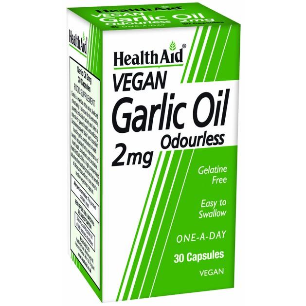 Health Aid Garlic Oil Odourless 2mg 30tabs