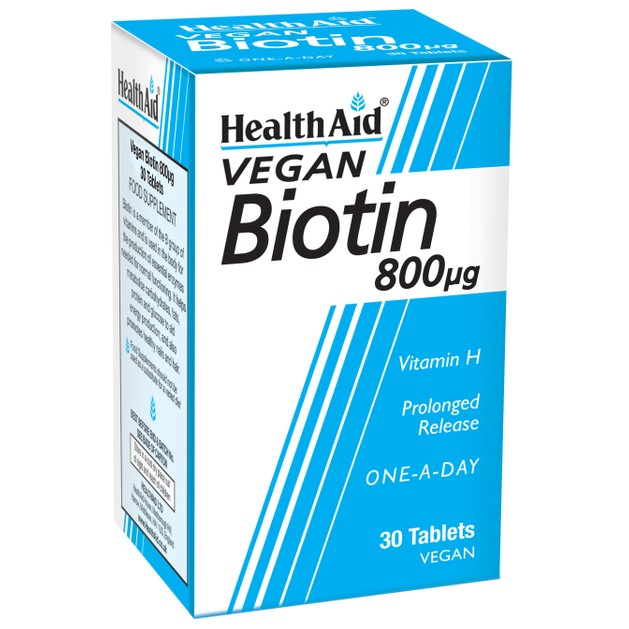 Health Aid Biotin (vitamin H) 800μg 30tabs