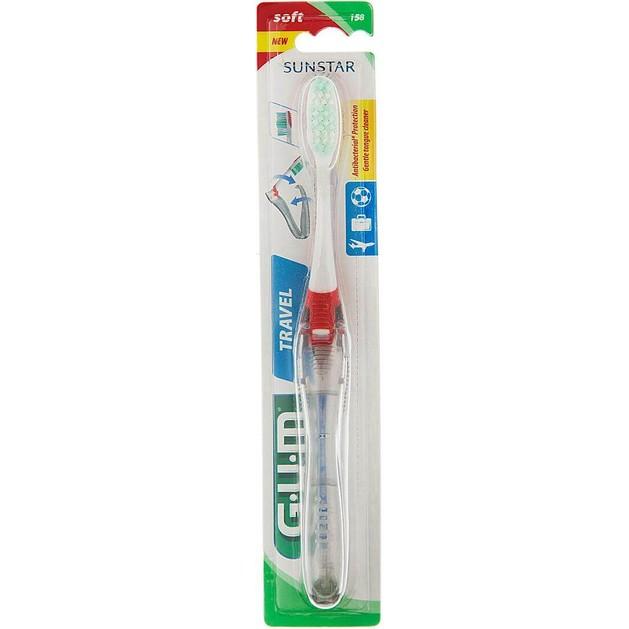 Gum Travel Soft Antibacterial Σπαστή Οδοντόβουρτσα Ταξιδίου (158)