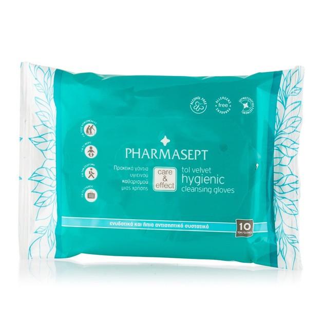 Pharmasept Tol Velvet Hygienic Cleansing Gloves 10τεμάχια