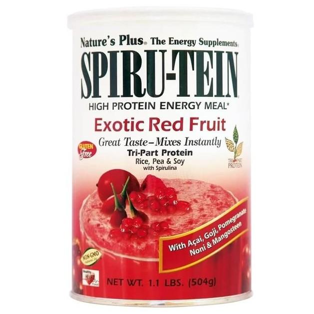 Nature\'s Plus Spiru-TeinΣυμπλήρωμα Διατροφής Ιδανικό για Δραστήρια Άτομα &Αθλητές, σε Σκόνη με ΓεύσηΕξωτικών Φρούτων504gr