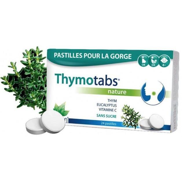Tilman ThymoTabs Nature Παστίλιες για το Λαιμό με Θυμάρι, Ευκάλυπτο & Βιταμίνη C 24τμχ